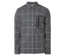 Modern Fit Freizeithemd mit Reißverschlusstasche