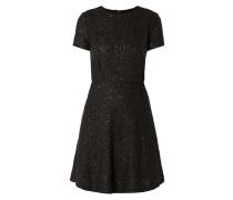 Kleid aus Bouclé mit Pailletten-Besatz
