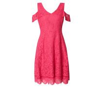 Cold Shoulder Kleid aus floraler Spitze