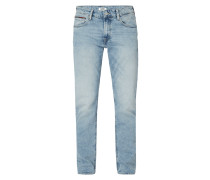 Straight Fit Jeans im Used Look mit Stretch-Anteil