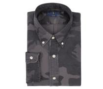 Slim Fit Freizeithemd mit Camouflage-Muster