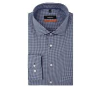 Slim Fit Business-Hemd mit Vichy Karo