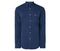 Modern Fit Jeanshemd mit Button-Down-Kragen