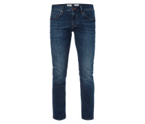 Stone Washed Straight Fit Jeans Modell 'Denton'