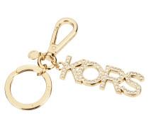 Schlüsselanhänger aus Metall in Goldoptik