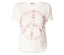 T-Shirt mit Message aus Ziersteinen