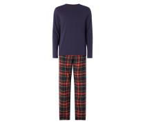 Pyjama mit Hose aus Flanell