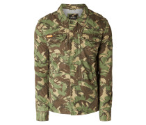 Jeansjacke mit Camouflage-Muster