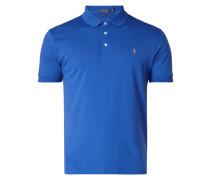 Slim Fit Poloshirt mit Logo-Stickerei