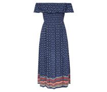 Off Shoulder Kleid mit gesmoktem Oberteil