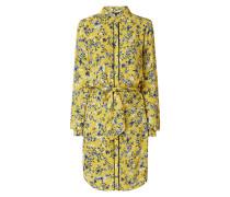Hemdblusenkleid mit floralem Muster