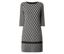 Kleid mit Webmuster