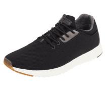 Sneaker aus Textil mit Lederdetails