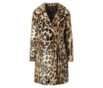 Mantel aus Webpelz mit Leopardenmuster