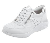 Sneaker Wedges mit Textileinsatz