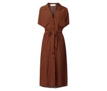 Blusenkleid aus Viskose mit Streifenmuster
