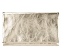 Clutch aus Leder in Metallicoptik