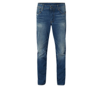 Renewed Tapered Fit Jeans mit Knopfleiste