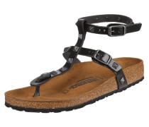 Sandalen aus Leder mit Nietenbesatz