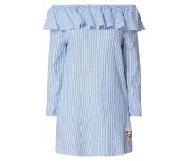 Off Shoulder Kleid aus Leinen