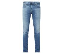 Slim Tapered Fit Jeans mit Stretch-Anteil