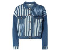 Jeansjacke mit überschnittenen Schultern