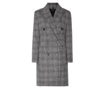 Mantel mit Glencheck und Woll-Anteil