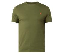 Slim Fit T-Shirt mit Logo-Stickerei