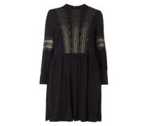 PLUS SIZE - Kleid mit Kontraststreifen aus Spitze