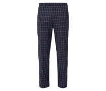 Super Slim Fit Anzug-Hose mit Gitterkaro