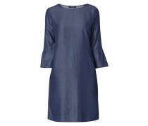 Kleid in schimmernder Denimoptik