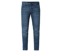 Renewed Slim Fit Jeans im Biker-Look