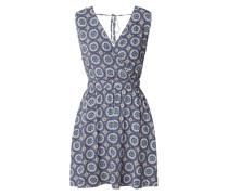 Kleid aus Viskose mit ornamentalem Muster