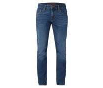 Stone Washed Modern Fit Jeans