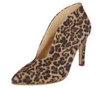 Stiefelette aus Leder mit Leopardenmuster