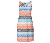 Kleid aus Mesh mit Wellenmuster