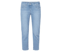 Modern Fit Jeans mit Ziersteinbesatz