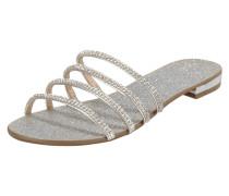 Sandalen mit Glitter-Effekt und Ziersteinen