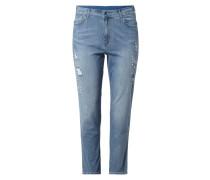 PLUS SIZE - Jeans im Destroyed Look mit Zierperlen