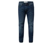 Straight Fit Jeans aus Organic Cotton mit Label-Patch