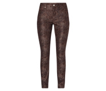 Skinny Fit Jeans in Snake-Optik
