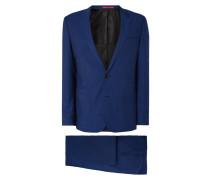 Slim Fit Anzug aus Schurwolle mit 2-Knopf-Sakko