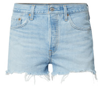 High Rise Jeansshorts mit Label-Patch Modell '501'