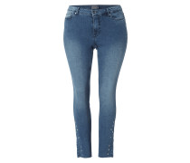 PLUS SIZE - Stone Washed Skinny Fit Jeans