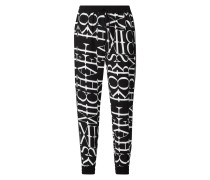 Trackpants mit Logo-Muster