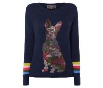 Pullover mit Motiv aus Ziersteinen
