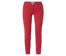 Skinny Fit 5-Pocket-Jeans aus Coloured Denim
