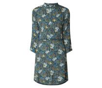 Blusenkleid aus Krepp mit floralem Muster