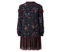 Kleid mit floralem Muster und Rüschenbesatz