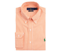 Slim Fit Freizeithemd aus Popeline